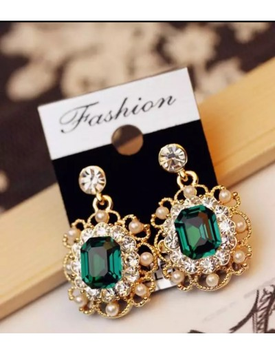 Korean vintage square earrings