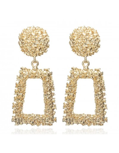 Gold vintage metal earring