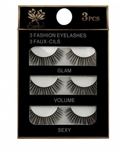 False mink eyelashes (pack...